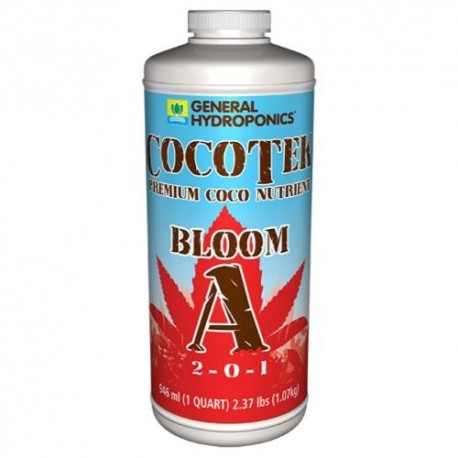 General Hydroponics® CocoTek® Bloom - A 2 - 0 - 1 & B 1 - 5 - 5 Quart