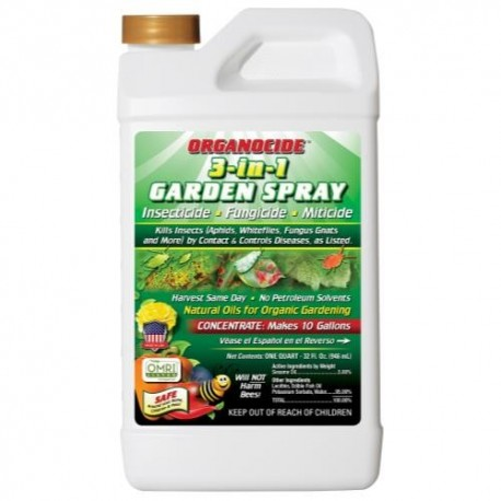 Organocide 3-in-1 Garden Spray Conc Qt